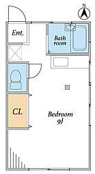 浜園アパート[101号室]の間取り