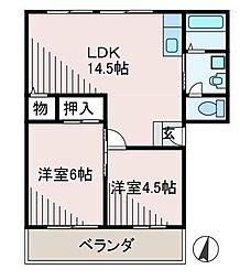 サンライフ2[1階]の間取り