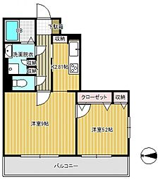 コスモ東大宮[3階]の間取り