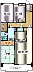 埼玉県さいたま市南区内谷7丁目の賃貸マンションの間取り