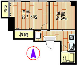 兵庫県神戸市中央区神若通1丁目の賃貸マンションの間取り
