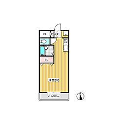 ラヴィ育良[2階]の間取り