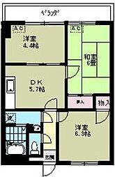 リブステージ横浜[5階]の間取り