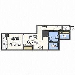 PRIME URBAN札幌リバーフロント[11階]の間取り