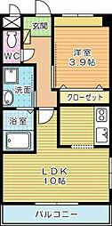 BM GARDEN(ビーエムガーデン)[2階]の間取り