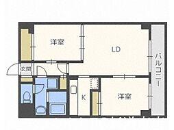 北海道札幌市東区北二十一条東23丁目の賃貸マンションの間取り
