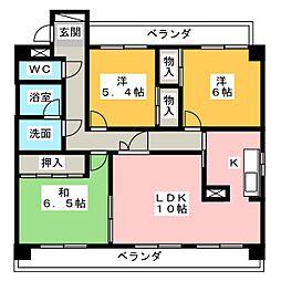 ソレイユ社ヶ丘[2階]の間取り