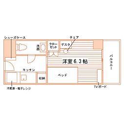 学生会館ユニハーモニー高蔵寺食事付き[2階]の間取り