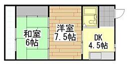 八千代葉山ビル[402号室]の間取り