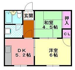 マンション太平8号館[307号室]の間取り