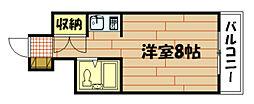 広島県広島市中区千田町2丁目の賃貸マンションの間取り