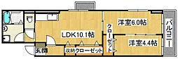 ソレアードII[3階]の間取り