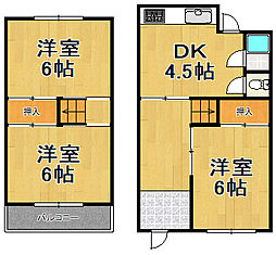 [一戸建] 兵庫県川西市西多田2丁目 の賃貸【/】の間取り