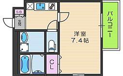 大阪府大阪市生野区桃谷3丁目の賃貸アパートの間取り