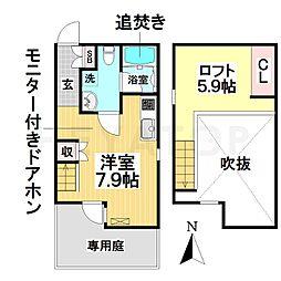愛知県名古屋市南区観音町9丁目の賃貸アパートの間取り