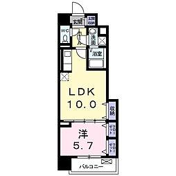 セレノスクエア 1階1LDKの間取り