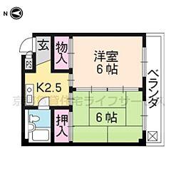 エスプリト横山[402号室]の間取り