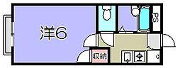 滋賀県東近江市八日市東本町の賃貸アパートの間取り