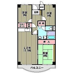 プレスト・コート壱番館[1階]の間取り