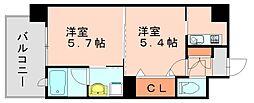エンクレストネオ博多駅南[12階]の間取り