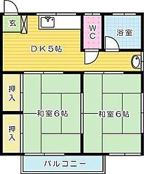 嵐山ハイツ[2階]の間取り