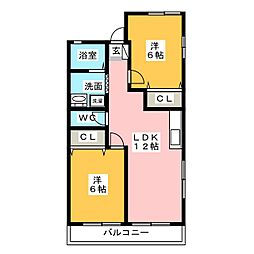 SpringHouseIII[2階]の間取り