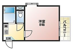 大阪府大阪市平野区喜連4丁目の賃貸マンションの間取り