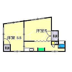 メゾン・ドやまさき[4階]の間取り