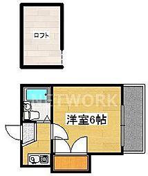 嵯峨野レジデンス[109号室号室]の間取り