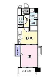 シャン・ド・フル−ル[9階]の間取り