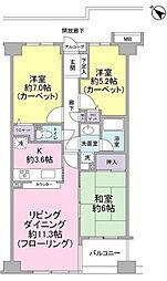 グレーシア横濱片倉[3階]の間取り