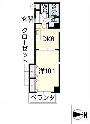 プライムコート栄生[5階]の間取り
