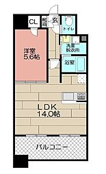 ランドマーク松島[1011号室]の間取り