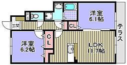 ネオビヤン1・2[1-102号室]の間取り