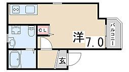 EXSONIA FIVE[1階]の間取り