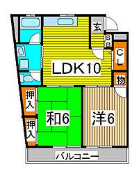 E・Yマンション2番館[3階]の間取り