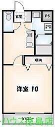 ヴァンドーム III番館[206号室]の間取り