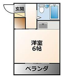 摂陽ハイツ[1階]の間取り