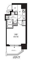 Osaka Metro中央線 堺筋本町駅 徒歩4分の賃貸マンション 7階1Kの間取り