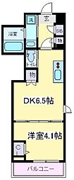 Osaka Metro御堂筋線 あびこ駅 徒歩8分の賃貸マンション 4階1DKの間取り