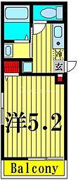 (仮称)梅田三丁目新築計画 1階1Kの間取り