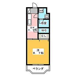 椎の木[3階]の間取り