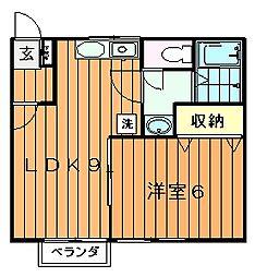 川内ハイツ[2階]の間取り