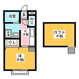 タウンハイツ井野[2階]の間取り