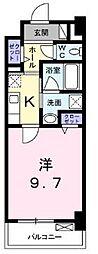高松琴平電気鉄道琴平線 栗林公園駅 徒歩8分の賃貸マンション 3階1Kの間取り