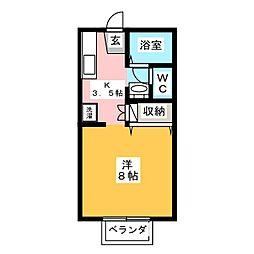 プレミール97[1階]の間取り