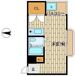 ロイヤルイン二宮[4階]の間取り