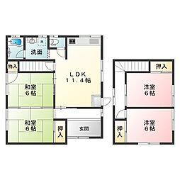 [一戸建] 滋賀県甲賀市水口町城内 の賃貸【/】の間取り