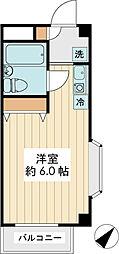 ランディー新浦安[4階]の間取り