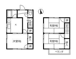 [テラスハウス] 神奈川県茅ヶ崎市松が丘1丁目 の賃貸【/】の間取り